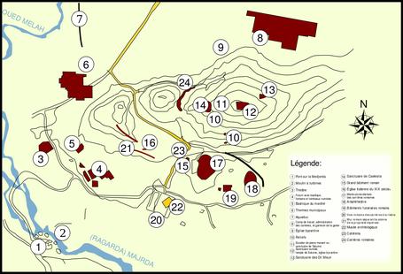 Chemtou (Simitthu) : Plan du site