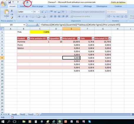 XLpourTPME : Utiliser le mode formulaire pour saisir des listes
