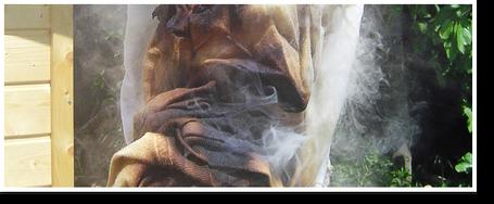 Gefahr der Selbstentzündung von Lappen / Werkzeugen bei der Verarbeitung von Ölen