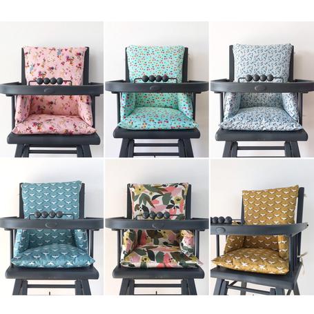 6 coussins de chaise haute