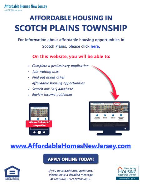 Affordable Housing Updates - Scotch Plains Township, NJ