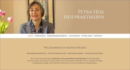 Webseite Heilpraktikerin Petra Hess
