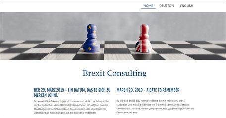 Webseite Brexit Consulting
