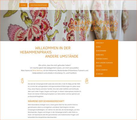 Webseite Hebammenpraxis Andere Umstände