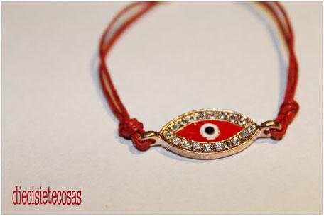 Pulsera evil eye strass