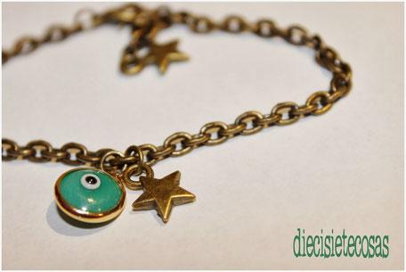 Pulsera evil eye cadena