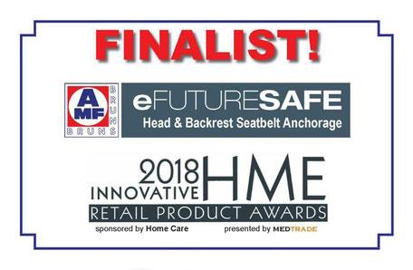 Innovative HME Retail Award Finalist 2018: AMF-Bruns eFutureSafe head and backrest/seatbelt anchorage