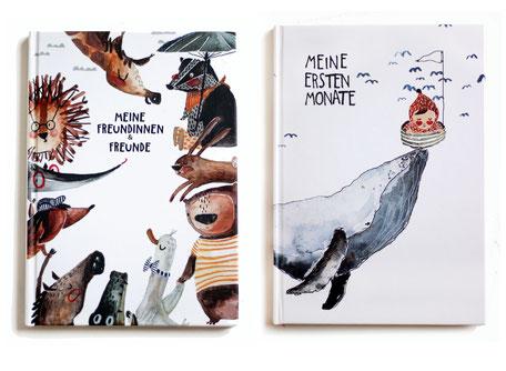 Unsere illustrierten Bücher mit schönsten Zeichnungen von Ramona Zirk aka halfbird. Meine ersten Monate ist ein Babybuch für die ersten wichtigen Meilensteine im Leben eines Babys. Und das Freundschaftsbuch ist ein völlig genderneutrales Buch für Kinder.