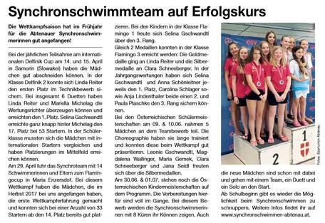 """Bericht in der Zeitschrift """"Wir Abtenauer"""""""