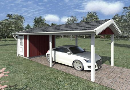 Berg-Schwedenhaus Einzel-Carport
