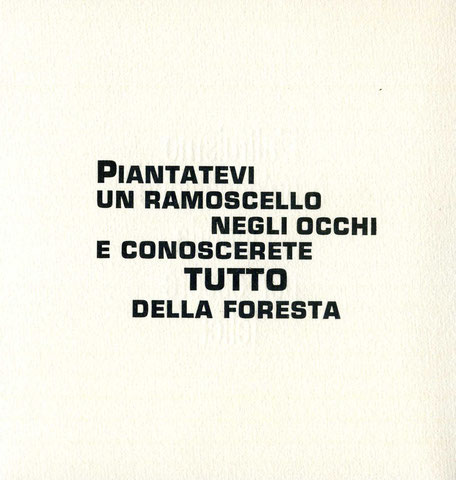 pagina tipografica stampata in nero