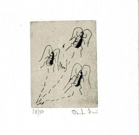 acquaforte/acquatinta originale dell'autore numerata e firmata