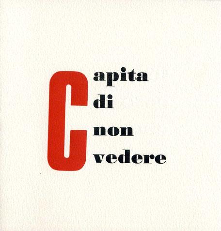 pagina di testo con stampa tipografica a due colori