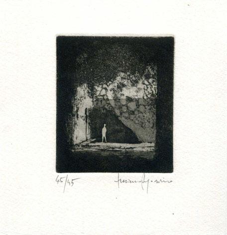acquaforte originale di Luciano Ragozzino numerata e firmata - lastra 78x65 mm