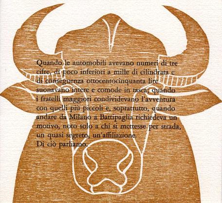 testo tipografico e xilografia originale