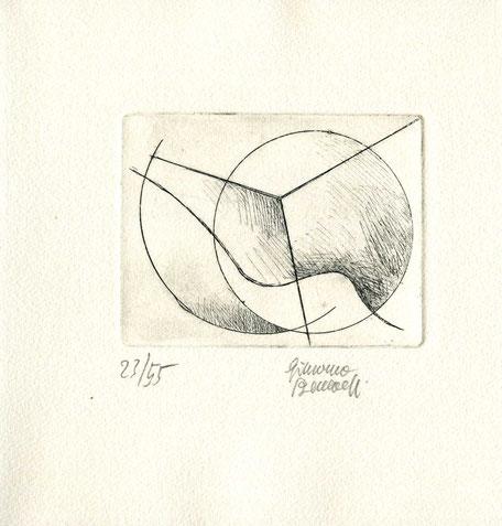 acquaforte originale dell'autore numerata e firmata - lastra 70x90 mm