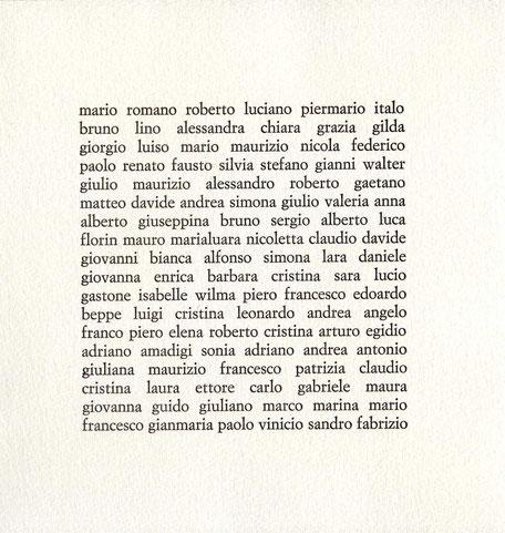 pagina di testo stampata tipograficamente in nero