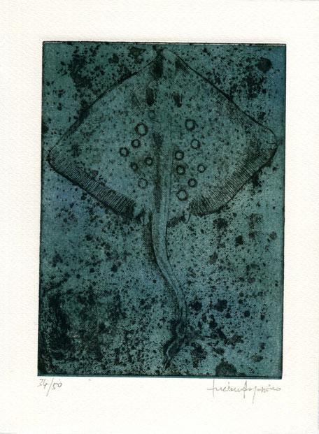 incisione originale all'acquaforte/acquatinta di Luciano Ragozzino numerata e firmata - lastra 187x135 mm