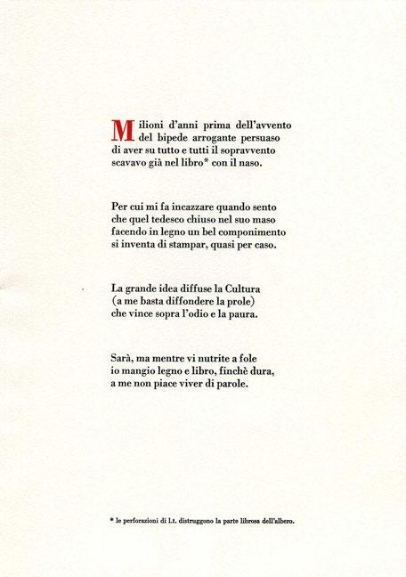 testo stampato tipograficamente a due colori con capolettera