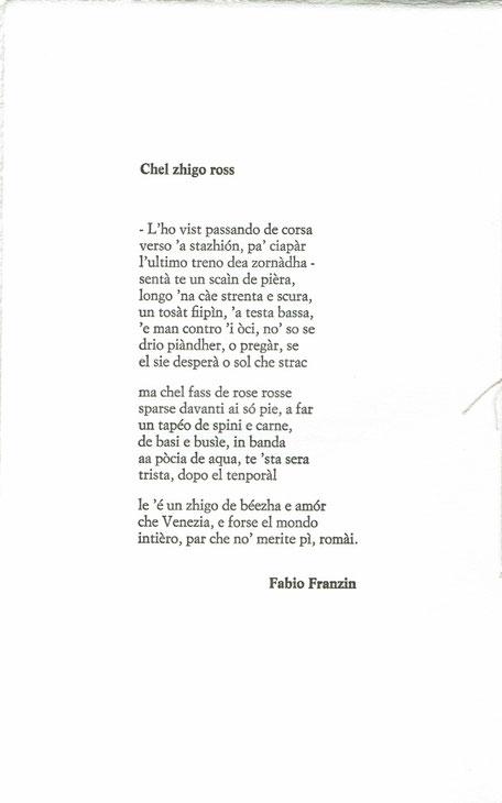 testo di Fabio Franzin
