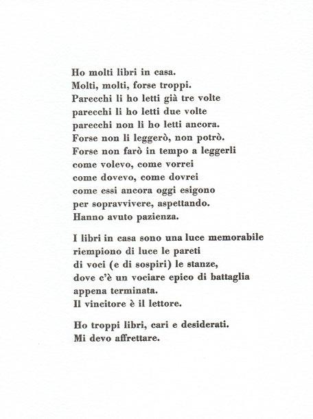 testo stampato tipograficamente a mano