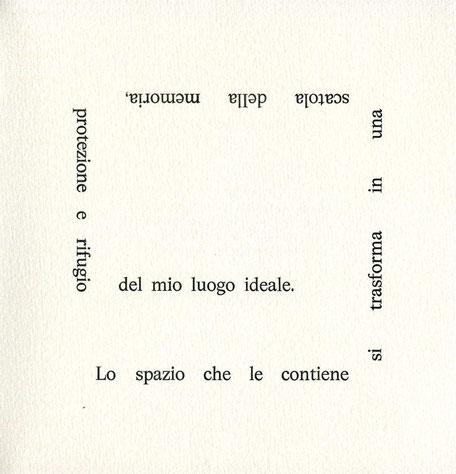 pagina con stampa tipografica di un testo
