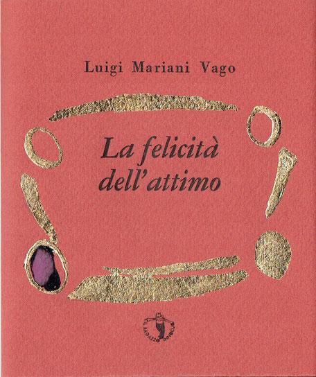 copertina con stampa tipografica e intervento dell'autore