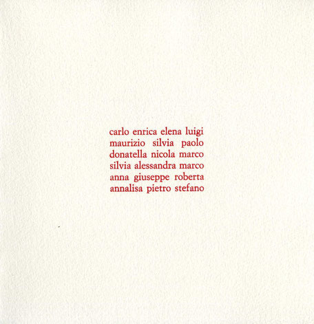 pagina di testo stampata tipograficamente in rosso