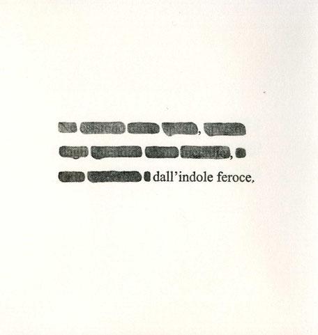 pagina con testo cancellato stampato tipograficamente