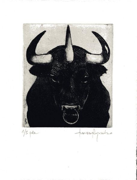 acquaforte-acquatinta originale di Luciano Ragozzino numerata e firmata - 115x100 mm