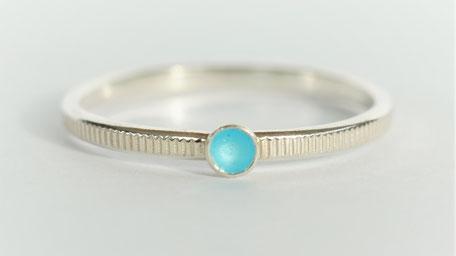Texture lignée-émail bleu azur
