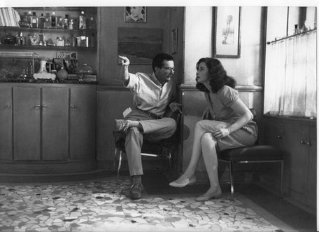 """Anna Galiena: """"Heureusement que tu étais là [ Patrice Leconte], c'est pour toi que j'ai fait ce film"""" . Photo DR"""