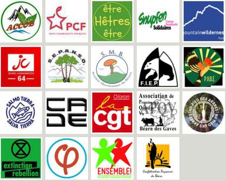 Les adhérents de Touche pas à ma forêt 64 au 10 octobre 2020 + 8 communes