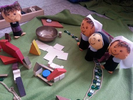 Eine religionspädagogische Darstellung des Treffens von Georg mit den Schwestern