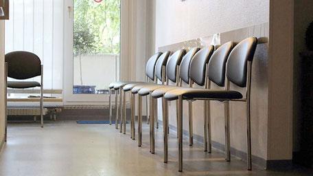 Wartebereich in der Hausarztpraxis Helmin in Essen Überruhr