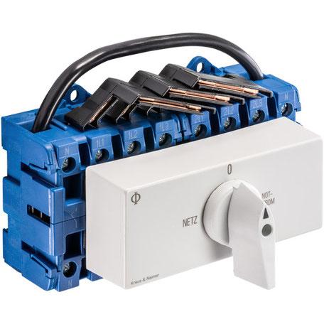 Notstrom-Umschater zur Einspeisung in das Hausnetz mit einem Strom-Generator
