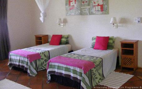 Slaapkamer van project in Zuid-Afrika