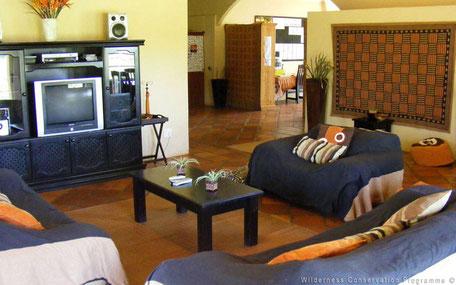 Woonkamer accommodatie Zuid-Afrika