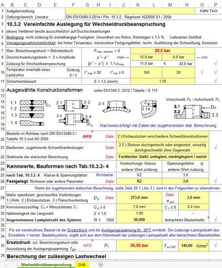 Modul 6 - Vereinfachte Auslegung für Wechseldruckbeanspruchung