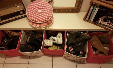 Schuhe aussortieren vorher