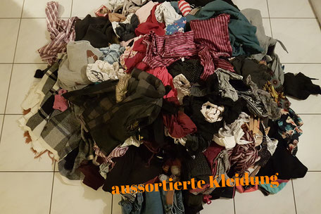 aussortierte Kleider
