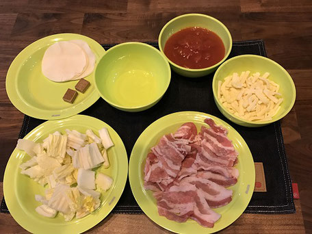 スキレット白菜と豚肉のラザニア風