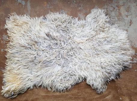 Creme grijs bruin schapenvacht