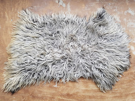 Grote grijze schapenvacht