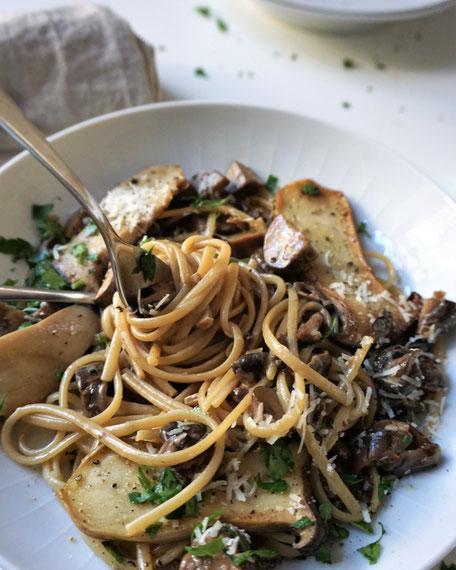 Linguine mit Pilzsößchen - aromatisch, intensiv, delikat