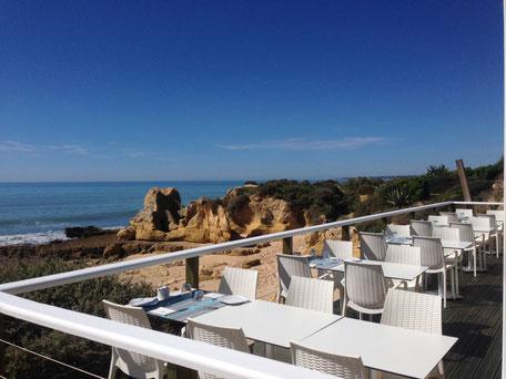Restaurante Praia do Lourenço,Guia,Albufeira,Algarve,Portugal geeignet für die Ruhe des Meeres und in Ruhe Essen