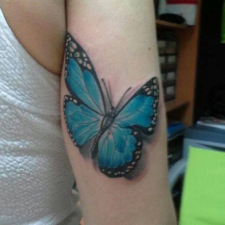 Cego Tattoos Studio em Portimão,Algarve,Portugal perfeito para Tattoos com Burbuletas no braço.