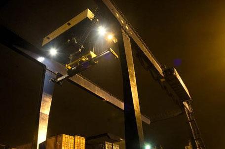 Applikation an Containerbrücke