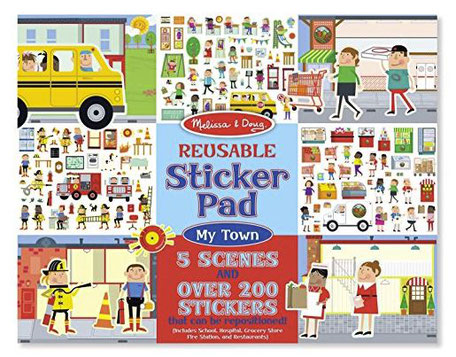 Melissa & Doug Reusable Sticker Pad - Inflight entertainment for toddlers 12 to 18 months