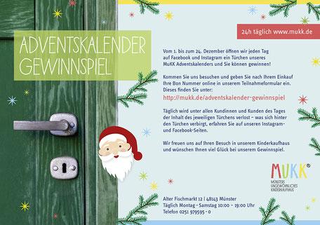 Adventskalender Gewinnspiel MuKK von Funkenflug Design